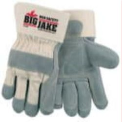 MCR Safety 1715P Cowhide Leather with Double Palm Heat Resistant glove - Size: Large