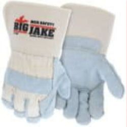MCR Safety 1716P Cowhide Leather with Double Palm Heat Resistant glove - Size: Large