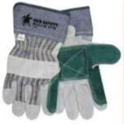 MCR Safety 1911 Cowhide Leather with Double Palm Heat Resistant glove - Size: Large