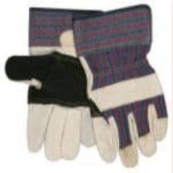MCR Safety 1921 Pigskin Leather with Patch Palm glove - Size: Large