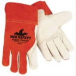 MCR Safety 4921 Cowhide Leather with Double Palm Welding glove - Size: Large