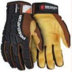 MCR Safety PD2907 Goatskin Leather with Padded Palm Mechanic glove