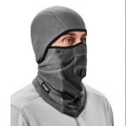 Ergodyne 6823  Gray Wind-proof Hinged Balaclava Face Mask