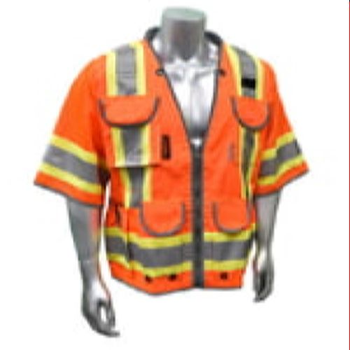 Radians SV55-3ZOD Type R Class 3 Heavy Woven Two Tone Engineer Vest -Orange