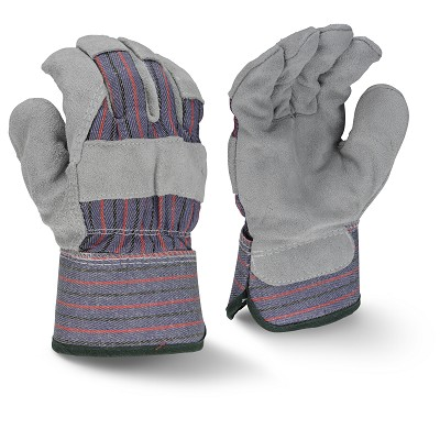 Radians RWG3205 Fleece Lined Regular Shoulder Gray Split Cowhide Leather Gloves