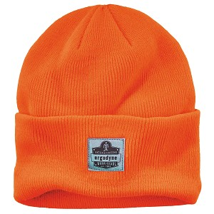 Ergodyne Orange 6806 Cuffed Rib Knit Beanie Hat