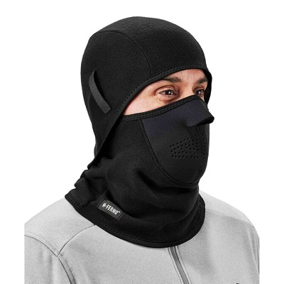 Ergodyne 682 Black 2-pc Fleece Balaclava Cold Weather Face Mask