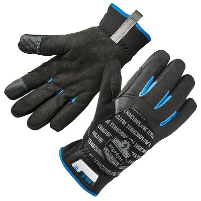 Ergodyne 814 Black Thermal Utility Gloves Thumb and Index Finger Touchscreen