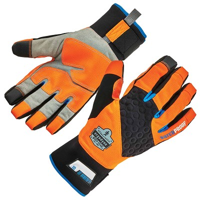 Ergodyne 818WPHV High Visibility Orange Performance Thermal Waterproof Utility Gloves