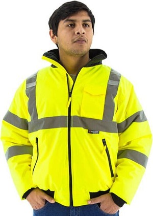 Majestic 75-1300 High Visibility Class 3 Bomber Jacket Polyester - Hi-Viz Yellow