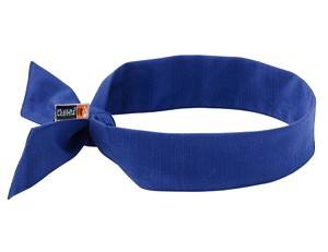 Ergodyne Chill-Its 6700FR Evaporative FR Cooling Tie Bandana - Blue