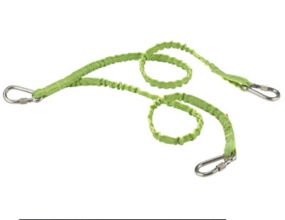 Ergodyne Squids 3311 Twin Leg Stainless Triple Carabiner-15 lbs (Lime)