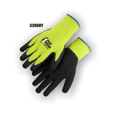 Majestic 3396HY Rubber Palm Glove - Winter Hi-Viz Yellow  Knit (12-Pack) Size S