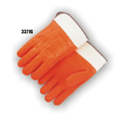 Majestic 3371G PVC Dipped Glove - Gritty Finish Foam Lined Safety Cuff (DZ)