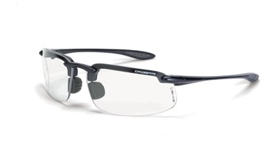Crossfire ES4 Clear Lens, Shiny Pearl Gray Frame +1.5