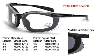 Crossfire Concept Reader, Clear, Crystal Black, Foam +2.5
