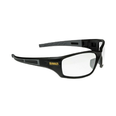 DeWALT® DPG101-1D Auger Safety Glasses - Black Frame, Clear Lens