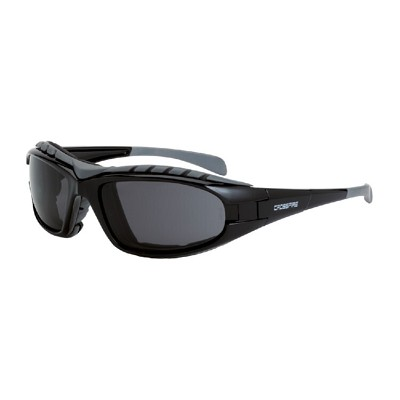 Crossfire 2761 AF Diamondback - Smoke Anti-Fog Lens, Shiny Black Frame
