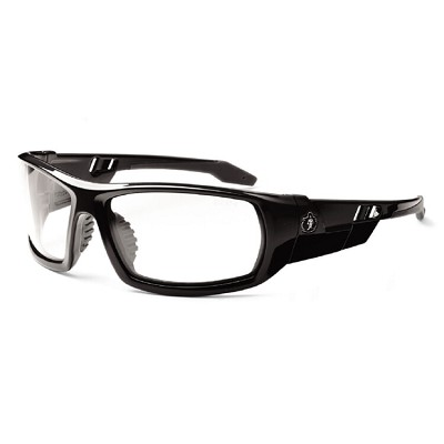 Ergodyne Skullerz ODIN Safety Glasses - Black Frame - Clear Anti-Fog Lens w/ Fog-Off