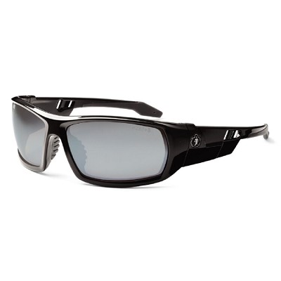 Ergodyne Skullerz ODIN Safety Glasses - Black Frame - Silver Mirror Lens