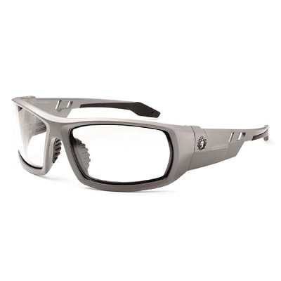 Ergodyne Skullerz ODIN Safety Glasses - Matte Gray Frame - Clear Lens
