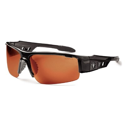 Ergodyne Skullerz DAGR Safety Glasses - Black Frame - Copper Lens