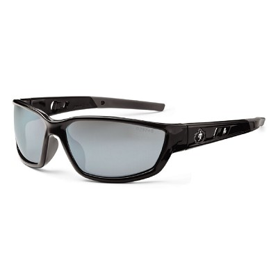 Ergodyne Skullerz KVASIR Safety Glasses - Black Frame - Silver Mirror Lens