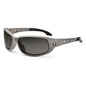 Ergodyne Skullerz VALKYRIE Polarized Safety Glasses - Matte Gray Frame - Polarized Smoke Lens