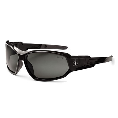 Ergodyne Skullerz LOKI Polarized Safety Glasses/Goggles - Black Frame - Polarized Smoke Lens