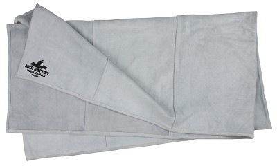MCR River City 38063 Leather Welding Blanket, 6' x 3', Heavy Duty Cowhide Leather Gray