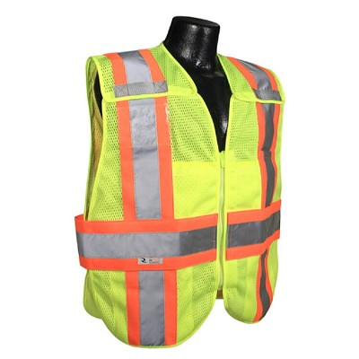 Radians SV24-2ZGM Expandable Two-Tone Class 2 Breakaway Safety Vest -Green