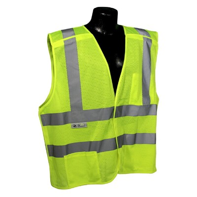Radians SV45-2ZGM Class 2 Self Extinguishing Mesh Breakaway Vest Hi Viz Green