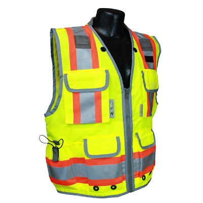 Radians SV55-2ZGD Type Class 2 Heavy Woven Two Tone Engineer Vest-Lime/Green