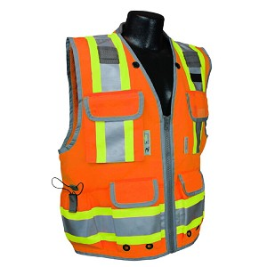 Radians SV55-2ZOD  Engineer Class 2 Safety Vest Heavy Two-Tone - Orange