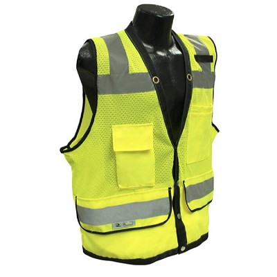Radians SV59-2ZGD Type R Class 2 Heavy Duty Surveyor Safety Vest-Lime/Green