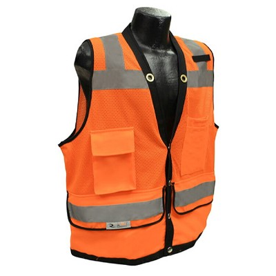 Radians SV59-2ZOD Type R Class 2 Heavy Duty Surveyor Safety Vest-Orange