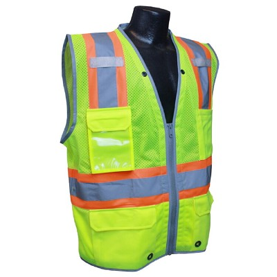 Radians SV6HG Class 2 Heavy Duty Two-Tone Surveyor Vest-Green
