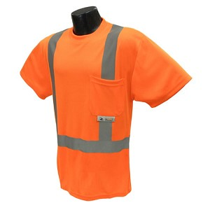 Radians ST11-2POS Class 2 Hi-Viz Safety T-Shirt Wicking Technology-Orange