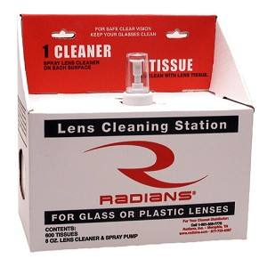 Radians Lens Cleaning LCS080600 Small Cleaning Station 8oz. Solution/600 Tissues