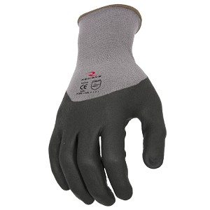 Radians RWG12 3/4 Foam Dipped Dotted Nitrile Glove