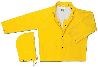 MCR Safety 600J Commodore, PVC/Non-Woven Poly/Nylon, Yellow 2 Pc Jacket