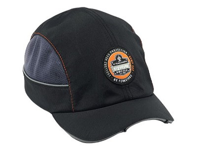 Ergodyne Skullerz 8960 Bump Cap w/ LED Short Brim Black (23370)