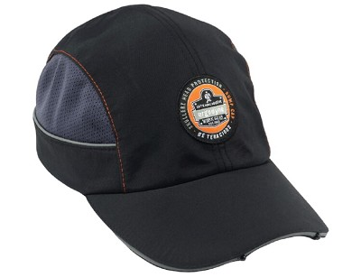 Ergodyne Skullerz 8960 Bump Cap w/ LED Long Brim Black (23374)