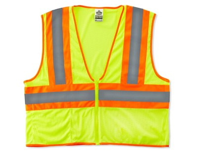 Ergodyne 8229Z-LIME  Economy Class 2 Two-Tone Safety Vest -Green