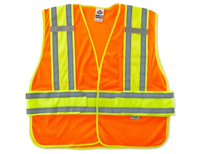 Ergodyne GloWear 8240HL-ORANGE Class 2 Two-Tone Expandable Vest - Hi Viz Orange