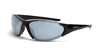 Crossfire Core Silver Mirror Lens, Shiney Black Frame