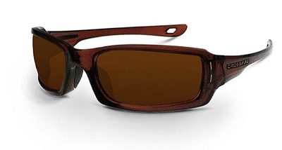Crossfire M6A Silver Mirror on Brown Lens, Crystal Brown Frame 201130