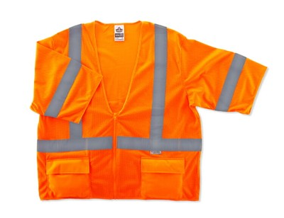 Ergodyne GloWear 8320Z-ORANGE Class 3 Safety Vest - Standard Hi Viz Orange