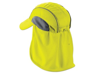 Ergodyne Chill-Its 6650 High Performance Hat w/ Neck Shade - Lime