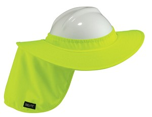 Ergodyne Chill-Its 6660 Hard Hat Brim with Shade - Lime
